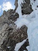 Rock Climbing Photo: First pitch.