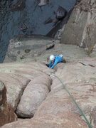 Rock Climbing Photo: Lisa enjoying Cheyenne