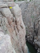 Rock Climbing Photo: The route as seen from Pale Face Anchor