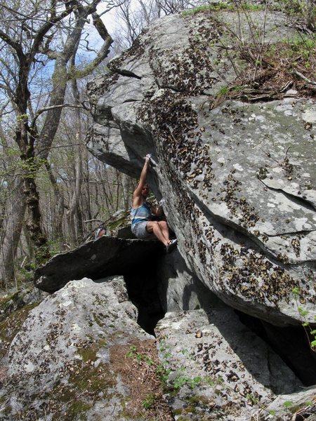 Rock Climbing Photo: Matze Bär on the 2nd ascent of Calamity