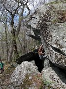 Rock Climbing Photo: Matze Bär starting the problem on the 2nd ascent ...