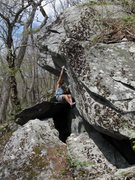 Rock Climbing Photo: Matze Bär on the 2nd ascent of Calamity