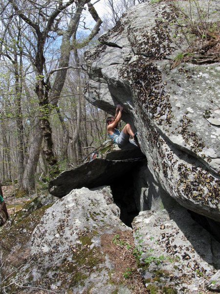 Matze Bär on the 2nd ascent of Calamity