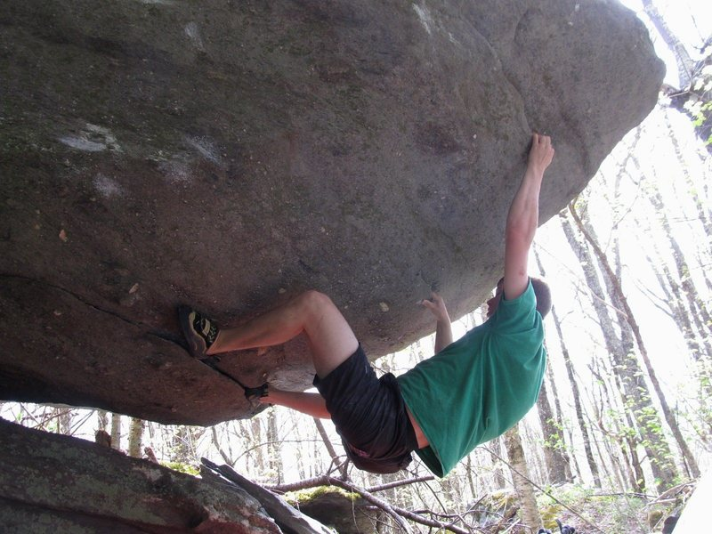 Jay John working toward the 2nd ascent of Dorothy, Oz Roof, BoB, GHSP.