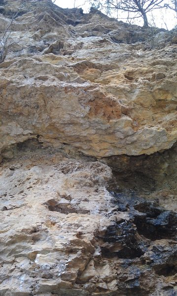 Rock Climbing Photo: Looking up 5.9 route on upper deck/mezzanine. Chai...