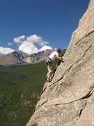 Rock Climbing Photo: My son Tristan leading Coloradoddity.