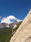 Rock Climbing Photo: ...and one more of my son Tristan leading Colorado...
