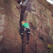 Rock Climbing Photo: At Devils Lake, Wisconsin. North Side of The Friga...