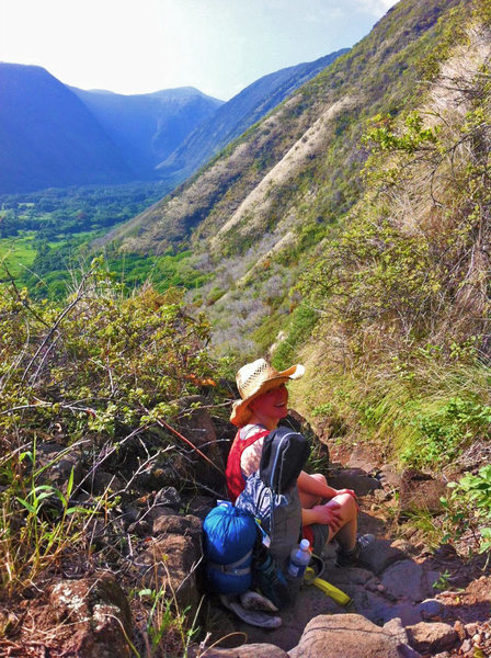 Rock Climbing Photo: Waipio Valley at the start of the Muliwai Trail to...