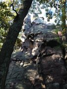 Rock Climbing Photo: Climbing my first overhang.