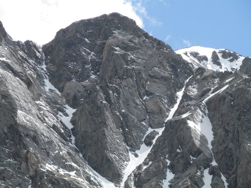 North Face of Quandary in May, during an average-low snow year.