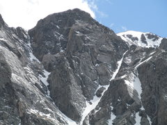 Rock Climbing Photo: North Face of Quandary in May, during an average-l...
