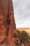 Rock Climbing Photo: Jitka low on the route.