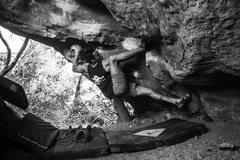 Rock Climbing Photo: Starting moves.