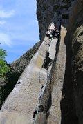 Rock Climbing Photo: Daniel leading Bandito.