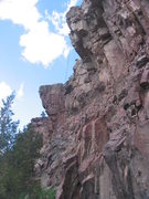 Rock Climbing Photo: R L Climb works on the low angle start of one of h...
