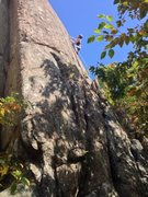 Rock Climbing Photo: Profile of the Beginner Slab from the base of The ...