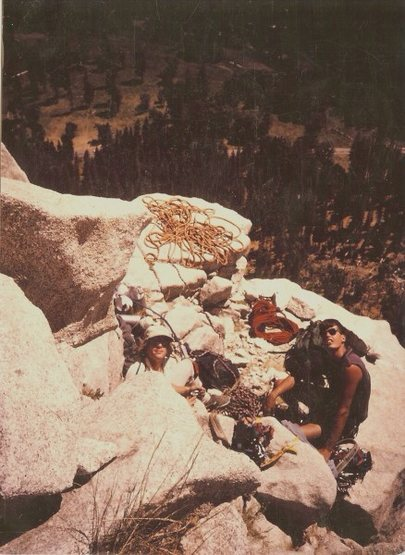 Mike Fogarty  & Tracy Dorton El Capitan, Mammoth Terrace, Photo: Troy Johnson
