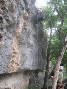 Rock Climbing Photo: Near the anchor. These two-bolt routes  generally ...