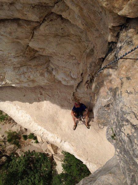 Rock Climbing Photo: Sitting belay