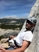 Taking a break on Lunch Ledge, Regular Route, Fairview Dome, Yosemite