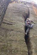 Rock Climbing Photo: Muscle schoals 5.8+ .. Off width is no joke!