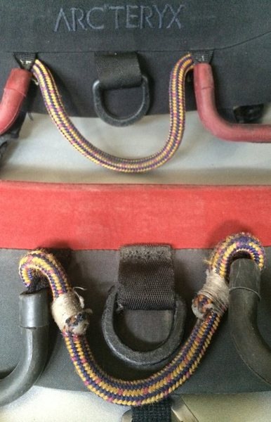 Extra loops sew onto harness