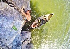 Climbing at Lake Nickajack
