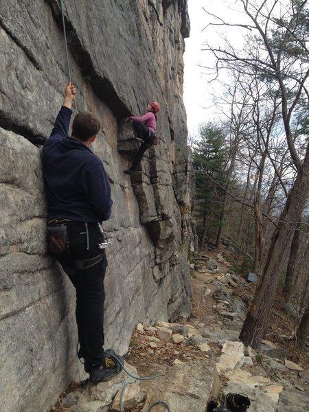 Rock Climbing Photo: The start of Interstice