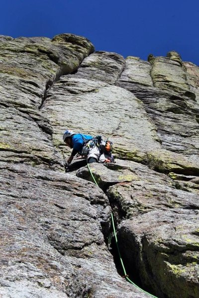 Rock Climbing Photo: El cracko 1st pitch devils tower