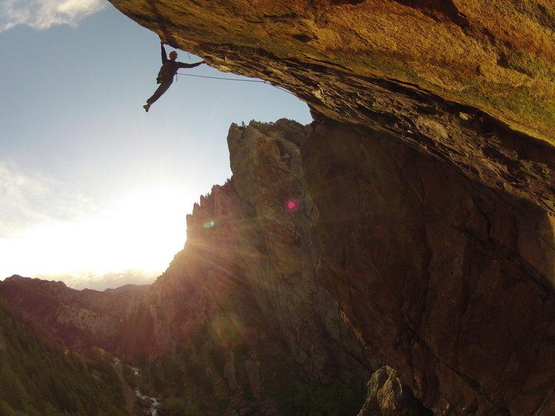 Rock Climbing Photo: High above Eldo.