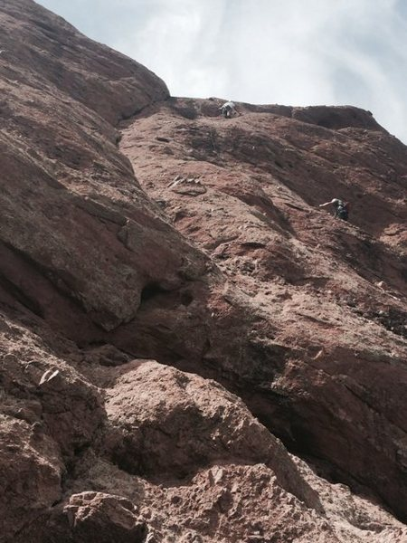 After 2nd pitch crux