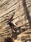 Rock Climbing Photo: First crux on Gene Wilder