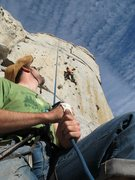 Rock Climbing Photo: Carmela top roping with Brian on Belay