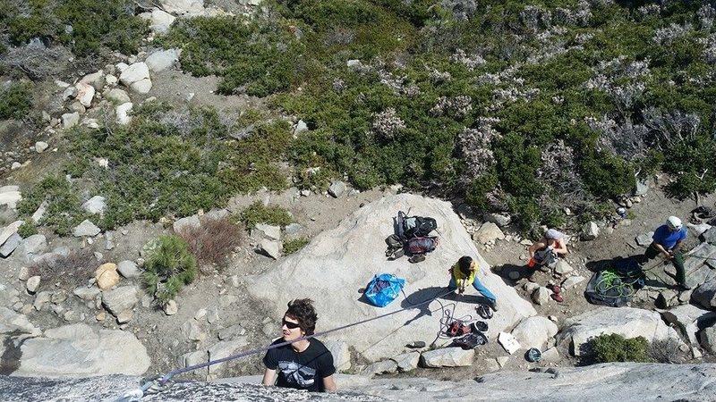 Tackling the crux at Donner Pass