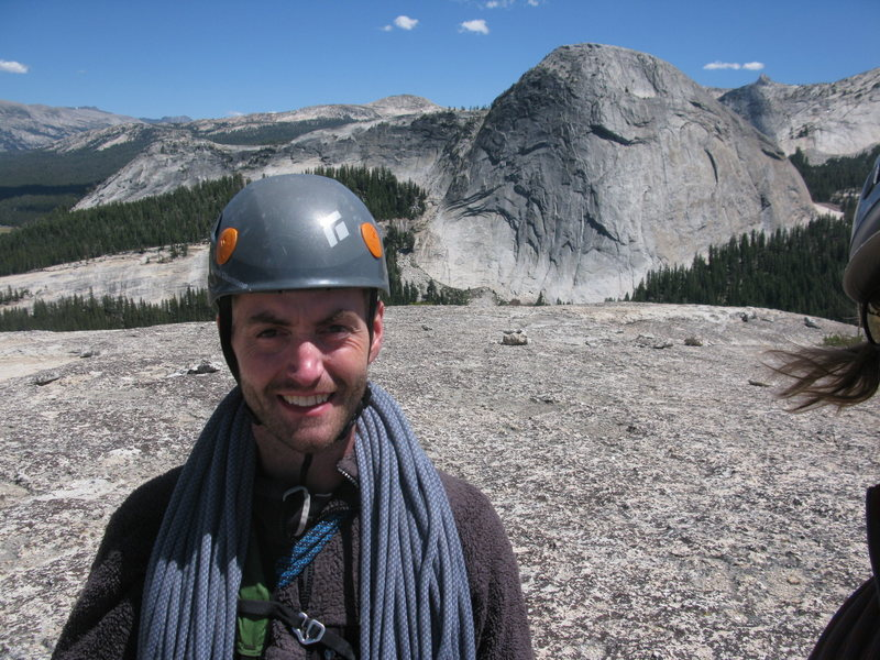 Top of Daff Dome (West Crack Route)......if I only had that hair