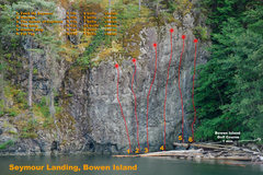TOPO image of Seymour Landing, on Bowen Island