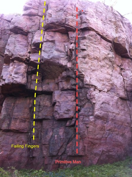 Rock Climbing Photo: right side of primitive buttress