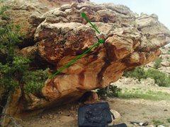 Rock Climbing Photo: Beta for Space Dragons.