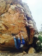 Rock Climbing Photo: Starting holds for Accidental Detox.