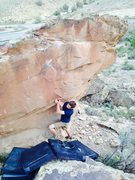 Rock Climbing Photo: Taylor moving through the undercling to the main f...