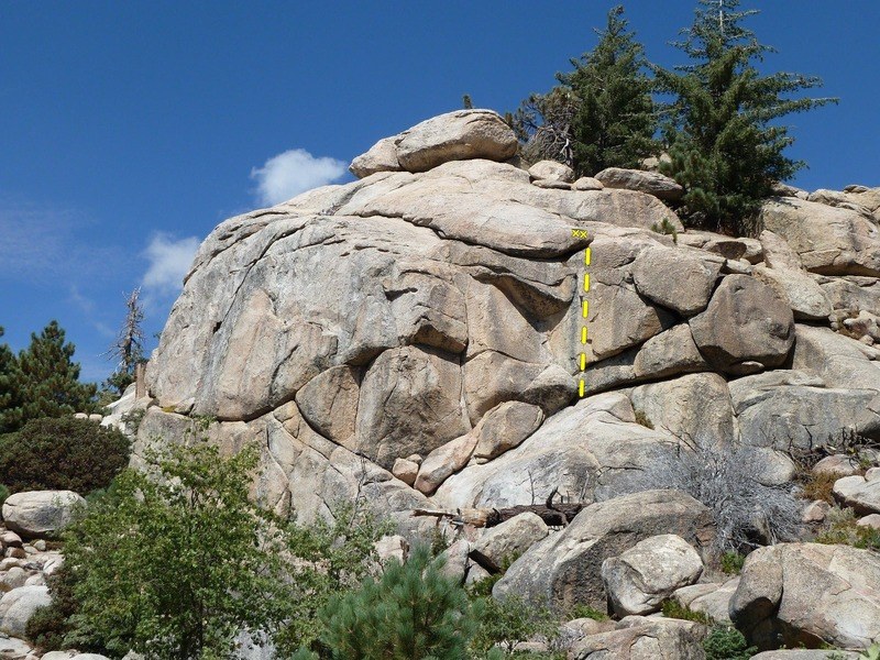 Far Right Flake (5.9)<br> School Rock, Photo Credit: C Miller