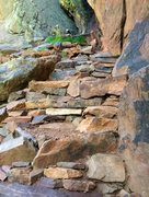 Rock Climbing Photo: Much improved Roof Routes trail/staging areas.