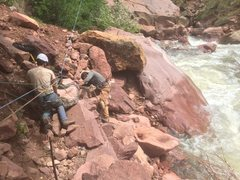 Rock Climbing Photo: JB and Ben slingin' rocks.
