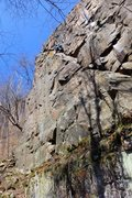 Rock Climbing Photo: Nate Erickson having an encounter with Ramp of Dea...