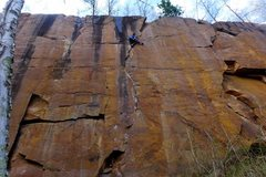 Rock Climbing Photo: Tricky moves near the finish. Nate Erickson. May, ...