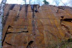 Rock Climbing Photo: Tricky moves near the finish. Nate Erickson. May, ...