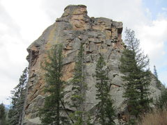 Rock Climbing Photo: This is the same tower from the back going upstrea...