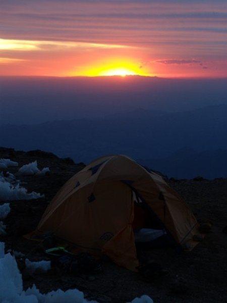 Rock Climbing Photo: Sunset at Nido de Condores (The Condors Nest)