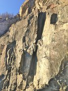 Rock Climbing Photo: Is this where Classic Crack was?  Now a broken chi...